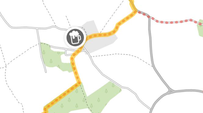 Pub Walk map